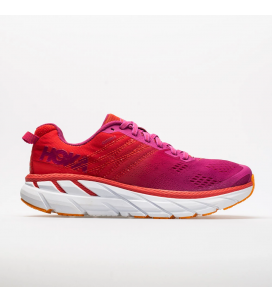 Hoka One One Clifton 6 Women's Road-Running Shoes - POPPY RED / CACTUS FLOWER