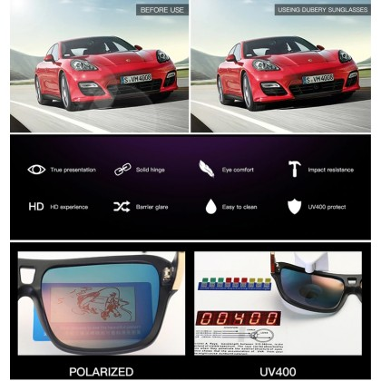 DUBERY DD732-01 Polarized Sunglasses Unisex - Matte Blk/Blue