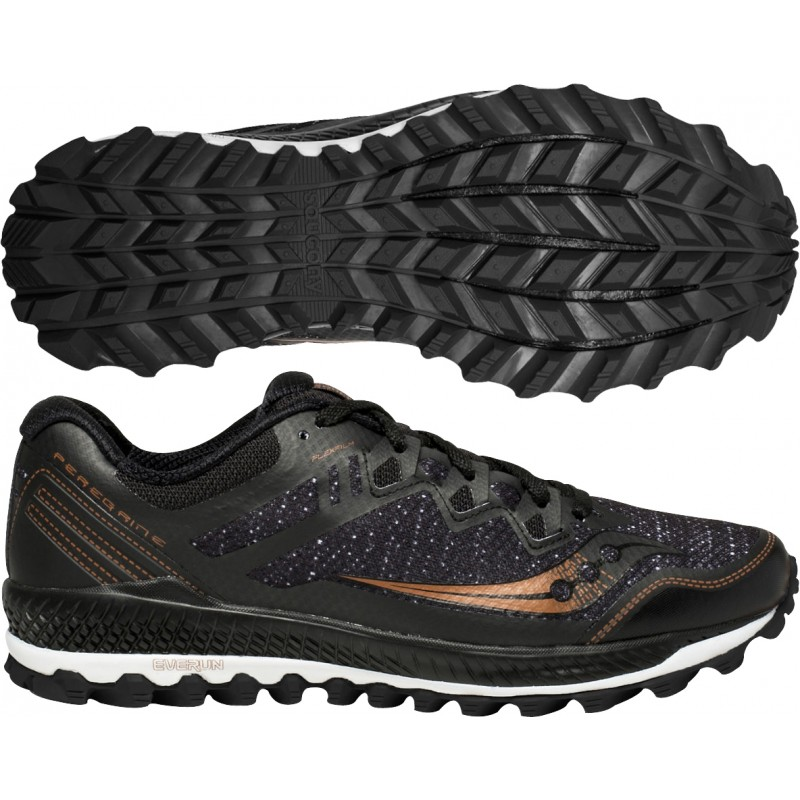 sale retailer b9fc4 5644b Saucony Peregrine 8 Mens Trail Running Shoes - Black